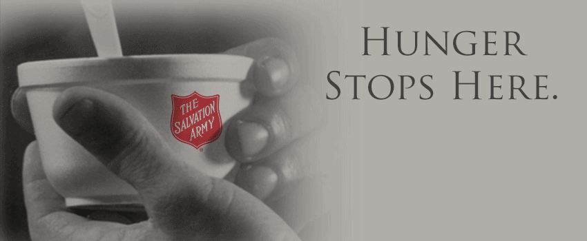 Hunger Stops at The Salvation Army